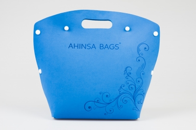 Blue design handbag (Ahinsa bags®)