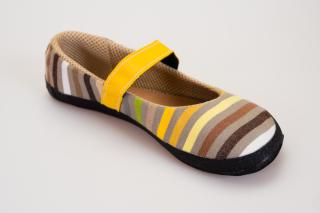 Balerínka Sunbrella® žluté proužky (Sundara)
