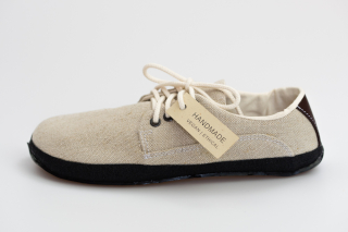 Linen natural with recycled motorcycle sole (Sundara)